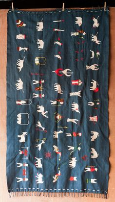 Yoyamay Blue Animal Handmade Fair Trade Textile Blanket