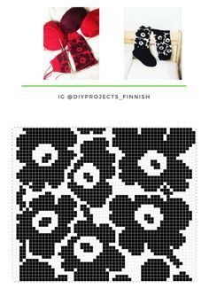 Unikko-villasukat Record of Knitting Yarn spinning, weaving and sewing jobs such as BC. Fair Isle Knitting Patterns, Knitting Charts, Knitting Socks, Knit Patterns, Beading Patterns, Crochet Chart, Knit Crochet, Filet Crochet, Tapestry Crochet
