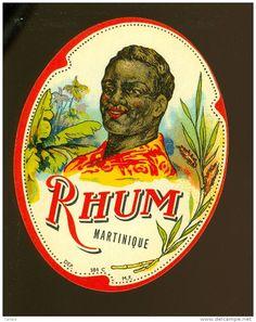 étiquette Rhum Distillerie #Rhum #Martinique