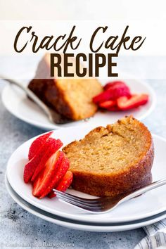 This Crack Cake recipe is easy and delicious. A yellow cake mix is doctored up, baked to golden brown perfection, and topped with a luscious wine glaze. Cake Mix Recipes, Cheesecake Recipes, Cupcake Recipes, Baking Recipes, Cupcake Cakes, Cupcakes, Bundt Cakes, Easy Gluten Free Desserts, Easy Desserts