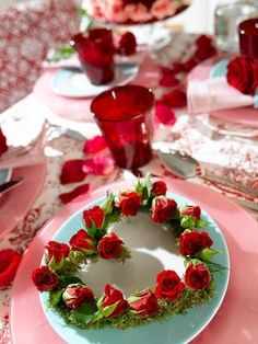 Valentine table setting♡