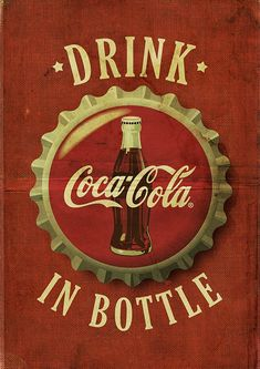 - Coca Cola - Ideas of Coca Cola - Ideas of Coca Cola - Drink Coca-cola in bottle frases refrigerante ret Coca Cola Wallpaper, Retro Wallpaper, Room Posters, Poster Wall, Poster Prints, Vintage Advertisements, Vintage Ads, Vintage Signs, Vintage Photos
