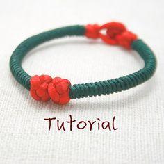 eBook (Love Seeds) - A Tutorial to Chinese knot bracelet Friendship Bracelet/Wish Bracelet-Instant download Pattern- FREE SHIPPING