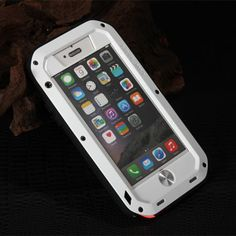 White Waterproof Aluminum Gorilla Case For Apple iPhone 6
