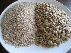 Sunflower Seeds and Sesame Seeds