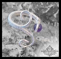 Handcrafted Elven Inspired Adjustable Silver Fill wire ring with AB grade Amethyst stone W -Z by KerrieDavisJewellery on Etsy Wire Rings, Wire Wrapped Rings, Amethyst Stone, Wire Wrapping, Inspired, Purple, Trending Outfits, Unique Jewelry, Handmade Gifts