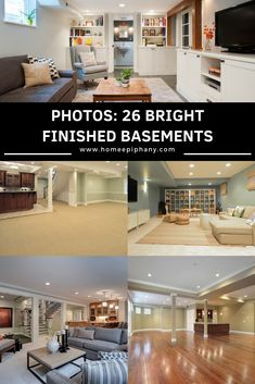 26 Charming and Bright Finished Basement Designs – Basement Bedrooms Narrow Basement Ideas, Finished Basement Bars, Small Finished Basements, Cheap Basement Ideas, Finished Basement Designs, Diy Finish Basement, Old Basement, Small Basement Remodel, Rustic Basement
