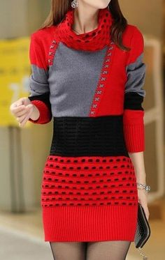 Turtleneck Color Block Knitted Mini Bodycon Dress - Turtleneck Color Block Knitted Mini Bodycon Dress – ClothingI Source by clothingishop - Knit Sweater Dress, Tee Dress, Bodycon Dress, Paisley Print Dress, Evening Dresses For Weddings, How To Roll Sleeves, Pulls, Women's Fashion Dresses, Golf