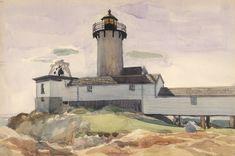 Eastern Point Light by Edward Hopper