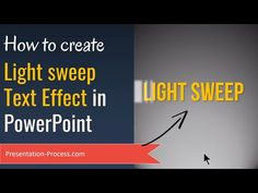 How to Create Animated Light Sweep Text Effect in PowerPoint Computer Projects, Computer Tips, Computer Shortcut Keys, Presentation Skills, Digital Storytelling, Create Animation, Microsoft Powerpoint, Text Effects, Dashboards