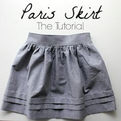 DIY pleated skirt