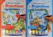 Set Of 2 Paint By Numbers Art Set Gift Mermaid / Flower Fairy