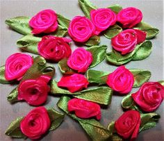 RR-102, $1.25, Assorted Hot Pink Ribbon Roses