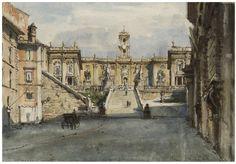 Alexandre Benois - Le Capitole, Rome.