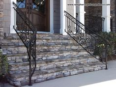 Residential Iron Railings - Raleigh Wrought Iron Co.
