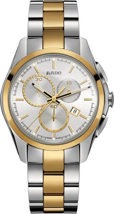 Rado Watch Hyperchrome L #bezel-fixed #bracelet-strap-gold #brand-rado #case-material-steel #case-width-38-7mm #chronograph-yes #date-yes #delivery-timescale-call-us #dial-colour-silver #gender-mens #luxury #movement-automatic #official-stockist-for-rado-watches #packaging-rado-watch-packaging #style-dress #subcat-hyperchrome #supplier-model-no-r32040102 #warranty-rado-official-2-year-guarantee #water-resistant-50m