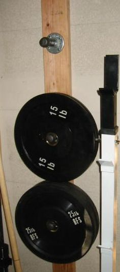 Diy barbell storage rack in the garage gyms gym
