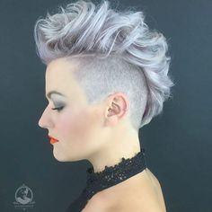 Curly Funky Ash Blonde Mohawk For Girls