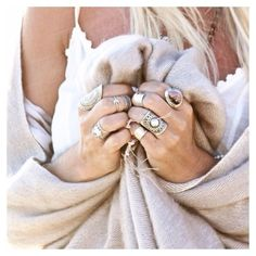 Boho Baubles: Stacked Silver and Stone Rings #johnnywas