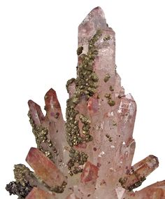 Quartz with Pyrite from Mexico