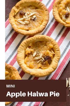 A fusion of apple halwa and pie. Mini apple halwa pie, a perfect baked dish. Winter Recipes, Summer Recipes, My Recipes, Favorite Recipes, Vegetarian Platter, Vegetarian Food, Eat Happy, Easy Summer Meals, Mini Apple