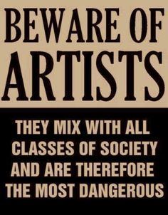 """Republican Senator Joseph McCarthy had this poster disseminated during the Republican """"Witch Hunt for Leftists"""" years  of the 1950's. - no this is not true, http://www.artlog.com/2012/574-beware-of-artists#.UfTYDxG9KSM"""