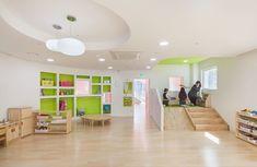 Kleine bunte Landmarke - Kindergarten in Seoul