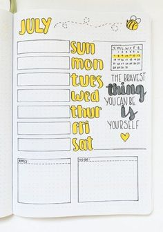 Need to get organized and be productive? Get inspired and check out these weekly spread ideas for your bullet journal for all of your planning needs! Bullet Journal Lettering Ideas, Bullet Journal How To Start A, Bullet Journal Notebook, Bullet Journal Spread, Bullet Journal Layout, Bullet Journal Ideas Pages, Bullet Journal Inspiration, Bullet Journals, Summer Journal