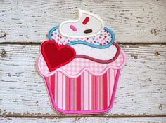 Valentine's Day Cupcake Iron On Or Sew On Applique  https://www.daisydoodleembroidery.com/valentines-day/valentines-day-cupcake-iron-on-or-sew-on-applique