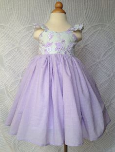 Bethany Flutter Dress in Lavender Perfect for Easter on Etsy, $40.00