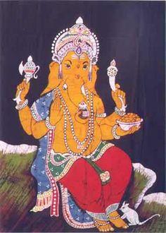 Batik Paintings of Ganesha + mythology