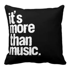 Music throw pillow.