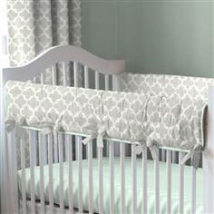 720caeb01b5 French Gray and Mint Quatrefoil Crib Bedding. Nursery BeddingBaby Crib  Bedding SetsBaby CribsCarousel ...