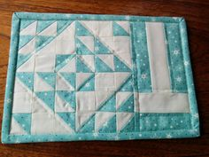 6 inch Snowflake quilt pattern by BlossomHeartQuilts.com