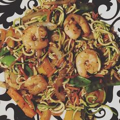 Made the Asian Zucchini Noodle Stir-Fry with Shrimp recipe from @justataste. Mine wasn't as pretty, but it tasted good! Total of 5sp. #weightwatchers @weightwatchers