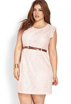 Floral Crochet Shift Dress | FOREVER 21 - 2000087762