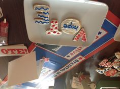 Cookies letters patriotic red white and Blue vote! GOTV