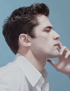 Sean O'Pry  Elle Man Mexico I can't help it.... This is my good side.  There's something in my nose on the other side....