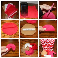 Felt fortune cookies tutorial. Perfect for your sweetie on Valentine's day!