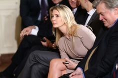 Ivanka Trump watches as Japanese Prime Minister Shinzo Abe U.S. and President Donald Trump speak during their joint news conference at the White House in Washington, U.S., February 10, 2017.     REUTERS/Joshua Roberts via @AOL_Lifestyle Read more: https://www.aol.com/article/news/2017/04/25/ivanka-trump-booed-during-womens-panel-after-touting-fathers-platform/22054786/?a_dgi=aolshare_pinterest#fullscreen