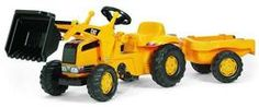 Rolly Toys/Caterpillar Pedal Tractor With Loader & Trailer | Pedal Cars & Other Ride-On Vehicles