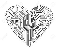 Computer Heart With Motherboard Elements For Technology Concept.. Royalty Free Cliparts, Vectors, And Stock Illustration. Image 12792769.