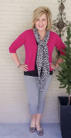 50 IS NOT OLD | HOW TO KEEP BLACK FROM LOOKING GLOOMY | FASHION OVER 40 | Pop of Color | Leopard Print | Spring Transition Outfit | Fashion over 40 for the everyday woman #women'sfashionover50 #women'sfashionover40