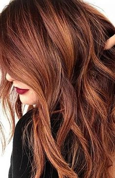 Medium Red Hair, Long Red Hair, Brown To Red Hair, Hair Color Auburn, Red Hair Color, Ginger Hair Color, Red Color, Colour, Red Hair With Highlights