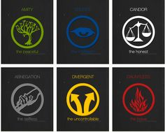 Divergent symbols with made up symbol for the Divergent. Divergent Tattoo, Divergent Trilogy, Divergent Insurgent Allegiant, Veronica Roth, Divergent Factions Symbols, Divergent Party, Nerd, Fantasy Inspiration, Fantasy Movies