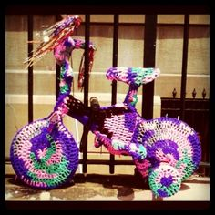 Yarn Bomb Tricycle