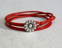 Friendship Double Wrap Leather Bracelet 16 charms от greenduckweed