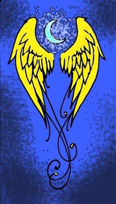 Fourth Former: The golden wings of Eros are the fourth formers' symbol. Eros – the love god – is the child of Nyx's seed. The symbol reminds the fourth formers of Nyx's capacity to love and also represents the students' continuous movement forward.