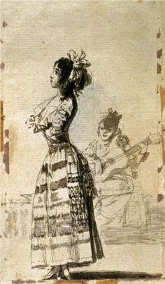 Girl Listening to a Guitar, Francisco Goya, 1799