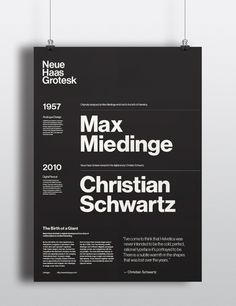 Neue Haas Grotesk - Type Specimen Poster on Behance
